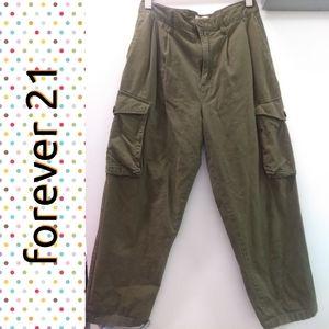 Forever 21 green cargo pants